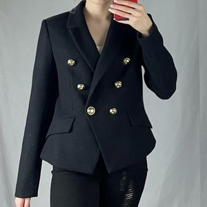 Black Fitted Doubled Breasted Blazer Blazer